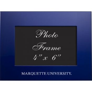 Marquette University - 4x6 Brushed Metal Picture Frame - Blue