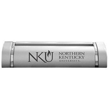 Northern Kentucky University-Desk Business Card Holder -Silver