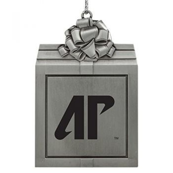 Austin Peay State University -Pewter Christmas Holiday Present Ornament-Silver