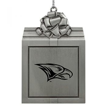 North Carolina Central University -Pewter Christmas Holiday Present Ornament-Silver