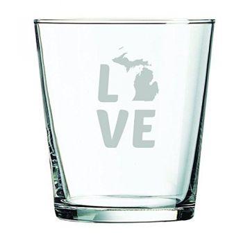 13 oz Cocktail Glass - Michigan Love - Michigan Love