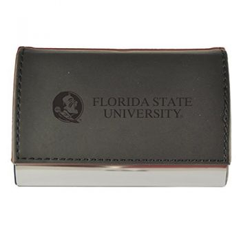 Velour Business Cardholder-Florida State University-Black