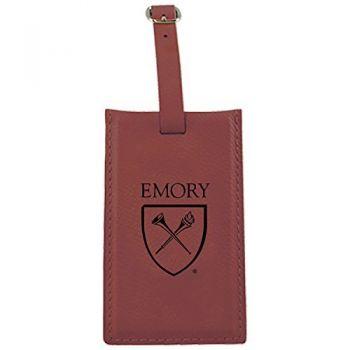 Emory University-Leatherette Luggage Tag-Burgundy