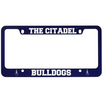The Citadel-Metal License Plate Frame-Blue