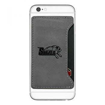 Siena College-Cell Phone Card Holder-Grey