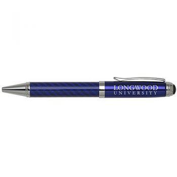 Longwood University-Carbon Fiber Ballpoint Pen-Blue