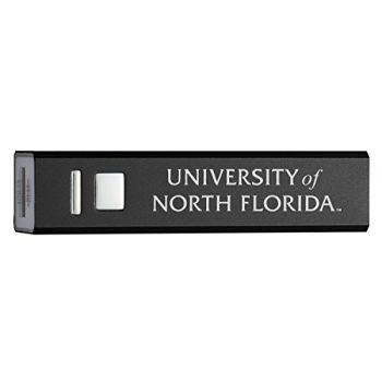 University of North Florida - Portable Cell Phone 2600 mAh Power Bank Charger - Black