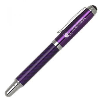 Northwestern State University - Carbon Fiber Rollerball Pen - Purple