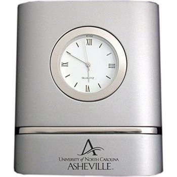 University of North Carolina at Asheville- Two-Toned Desk Clock -Silver