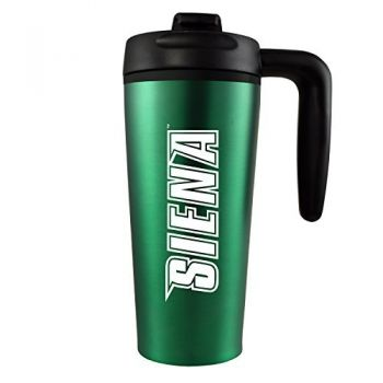 Siena College-16 oz. Travel Mug Tumbler with Handle-Green