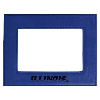 University of Illinois-Velour Picture Frame 4x6-Blue