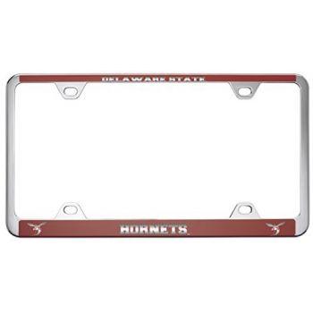 Delaware State University -Metal License Plate Frame-Red