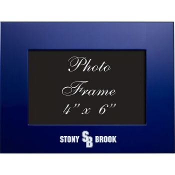 Stony Brook University - 4x6 Brushed Metal Picture Frame - Blue