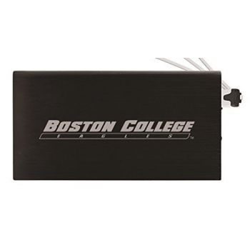 8000 mAh Portable Cell Phone Charger-Boston College -Black