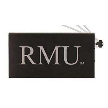 8000 mAh Portable Cell Phone Charger-Robert Morris University -Black