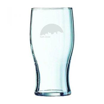 19.5 oz Irish Pint Glass - San Jose City Skyline