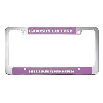 Canisus College -Metal License Plate Frame-Pink
