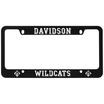 Davidson College-Metal License Plate Frame-Black