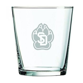 University of South Dakota -13 oz. Rocks Glass