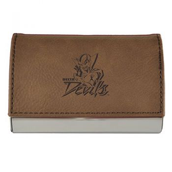 Velour Business Cardholder-Mississippi Valley State University-Brown