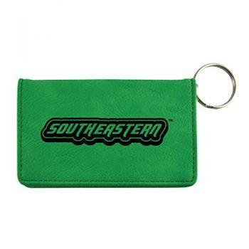 Velour ID Holder-Southeastern Louisiana University-Green
