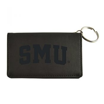 Velour ID Holder-Southern Methodist University-Black