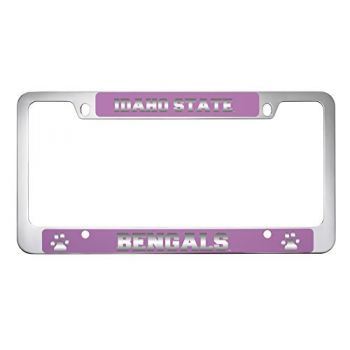Idaho State University -Metal License Plate Frame-Pink