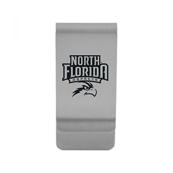 University of North Florida|Money Clip with Contemporary Metals Finish|Solid Brass|High Tension Clip to Securely Hold Cash, Cards and ID's|Gold