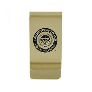 St. Cloud State University|Money Clip with Contemporary Metals Finish|Solid Brass|High Tension Clip to Securely Hold Cash, Cards and ID's|Silver