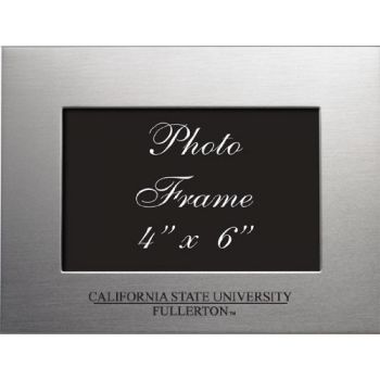 Fullerton College - 4x6 Brushed Metal Picture Frame - Silver