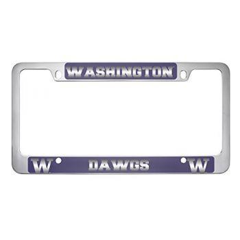 University of Washington-Metal License Plate Frame-Purple