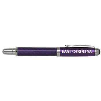East Carolina University - Carbon Fiber Rollerball Pen - Purple
