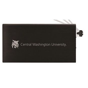 8000 mAh Portable Cell Phone Charger-Central Washington University -Black
