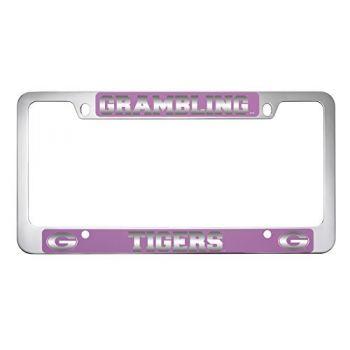 Grambling State University-Metal License Plate Frame-Pink