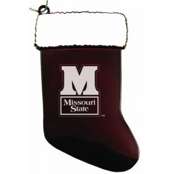 Missouri State University - Christmas Holiday Stocking Ornament - Burgundy