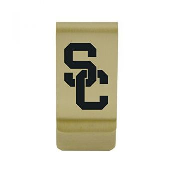 University of Pennsylvania|Money Clip with Contemporary Metals Finish|Solid Brass|High Tension Clip to Securely Hold Cash, Cards and ID's|Silver