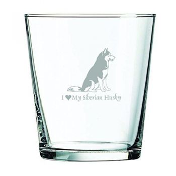 13 oz Cocktail Glass  - I Love My Siberian Huskie