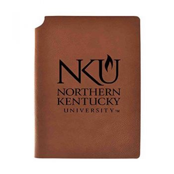 Northern Kentucky University Velour Journal with Pen Holder|Carbon Etched|Officially Licensed Collegiate Journal|