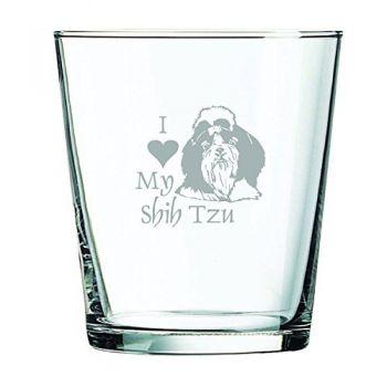 13 oz Cocktail Glass  - I Love My Shih Tzu