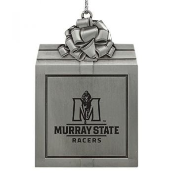 Murray State University -Pewter Christmas Holiday Present Ornament-Silver