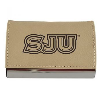 Velour Business Cardholder-Saint Joseph's university-Tan