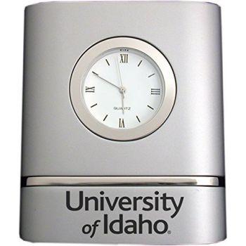 University of Idaho- Two-Toned Desk Clock -Silver