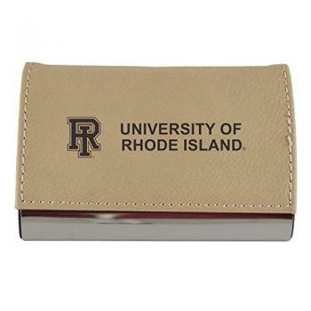 Velour Business Cardholder-The University of Rhode Island-Tan