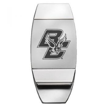 Boston College - Two-Toned Money Clip - Silver