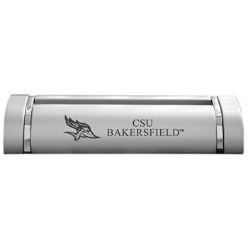 California State University, Bakersfield-Desk Business Card Holder -Silver