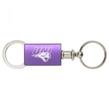 University of Northern Iowa - Anodized Aluminum Valet Key Tag - Purple