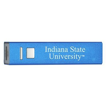 Indiana State University - Portable Cell Phone 2600 mAh Power Bank Charger - Blue