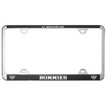 St. Bonaventure Bonnies -Metal License Plate Frame-Black
