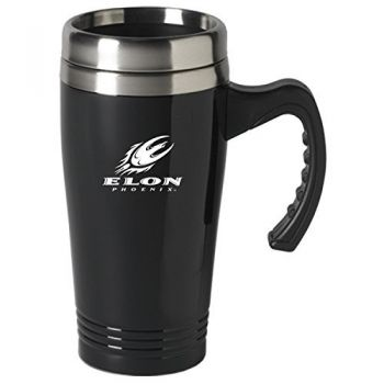 Elon University-16 oz. Stainless Steel Mug-Black