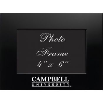 Campbell University - 4x6 Brushed Metal Picture Frame - Black